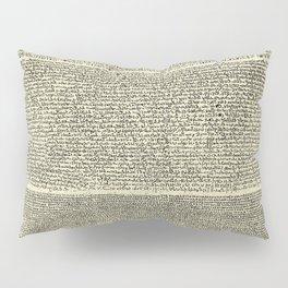 The Rosetta Stone // Parchment Pillow Sham