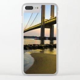 Sunset at the Verrazzano-Narrows Bridge Clear iPhone Case