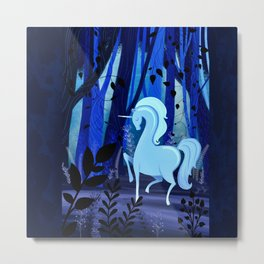The Loveliest Of Them All Was The Unicorn Metal Print