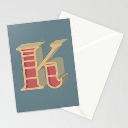Alphabet Drop Caps Series- K Stationery Cards