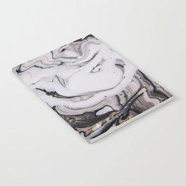 Elegant dark swirls of marble Notebook