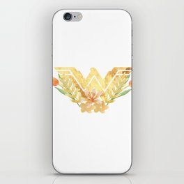 wonder.woman floral iPhone Skin