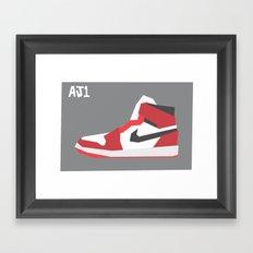 Jordan Minimalist Framed Art Print