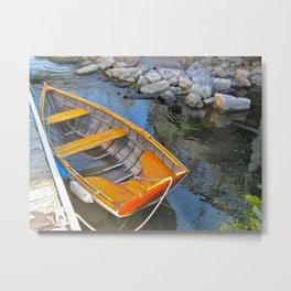 Row Boat Metal Print
