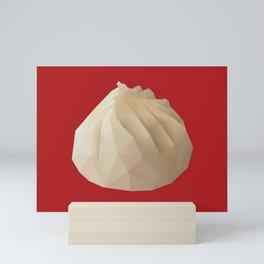 Xiao Long Bao polygon art Mini Art Print