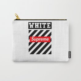 supreme white Carry-All Pouch