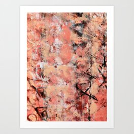 011: a bright contemporary abstract design in pinks black and white by Alyssa Hamilton Art  Art Print