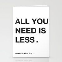helvetica Stationery Cards featuring helvetica by bertamir