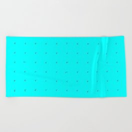 """""""the blue of the bubbles"""" Beach Towel"""