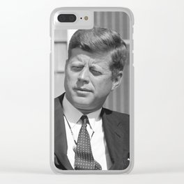 President John F. Kennedy Clear iPhone Case