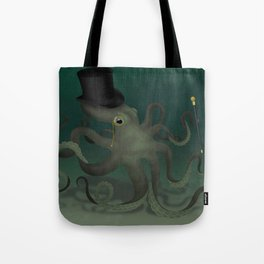 Octopus with a top hat Tote Bag