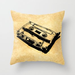 Retro Cassette Tape Throw Pillow