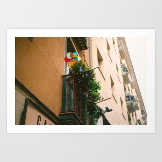 Backstreets of Barcelona Art Print