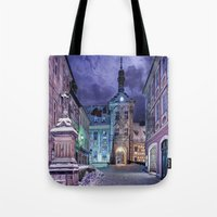 gotham Tote Bags featuring Gotham by Robin Curtiss