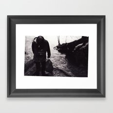 Boy by the River Framed Art Print
