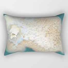 agate, quartz, crystal stone beige gold turquoise Rectangular Pillow