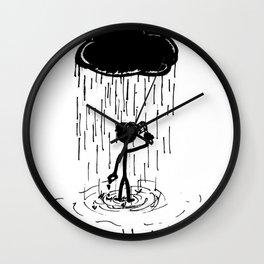 Turn that cloud, upside down! Wall Clock