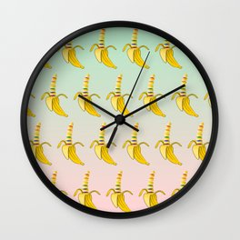 Gay Pride Banana Wall Clock