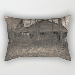 Engulfed House with Vines (Untitled Sepia 3) Rectangular Pillow