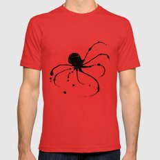 Octopus Ink Red Mens Fitted Tee LARGE