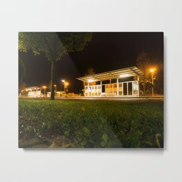 Bus and trainstation Metal Print