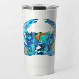 Blue Crab Art by Sharon Cummings Travel Mug