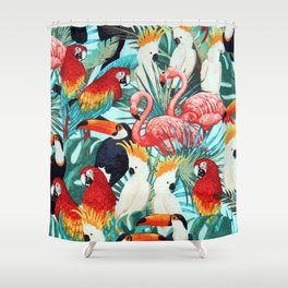 Exotic birds Shower Curtain