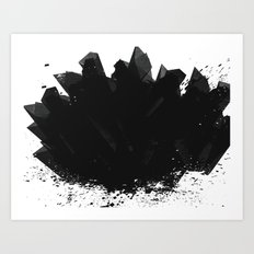 Black Diamond Art Print