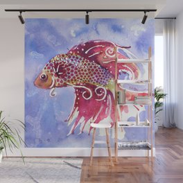 Fish Swirl Wall Mural