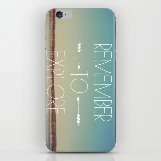 Remember to Explore iPhone & iPod Skin
