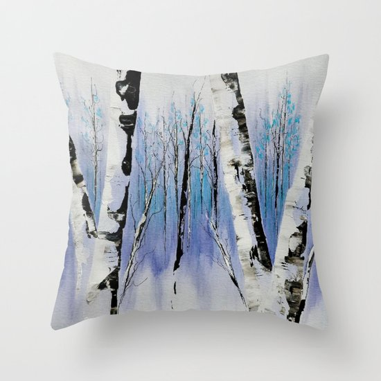 Shadowy Forest Throw Pillow