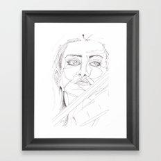 feeling the passion Framed Art Print