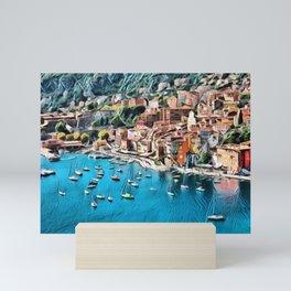 Côte d'Azur - French Riviera, France ocean landscape Mini Art Print