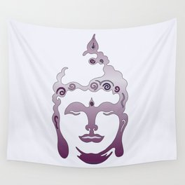 Buddha Head violet - grey Wall Tapestry