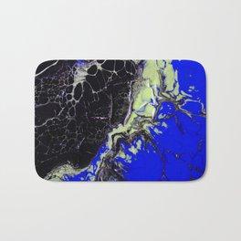 Epic Black and Blue Texture Painting Bath Mat
