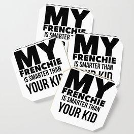 French Bulldog Design Funny Tee for Mom Dad Men or Women Coaster