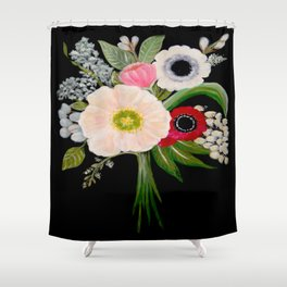 Spring Bouquet on Slate Shower Curtain