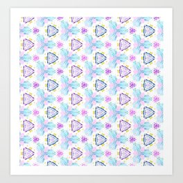 Amethyst Triangles Art Print
