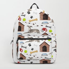 Italian Greyhound Half Drop Repeat Pattern Backpack
