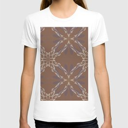 Pattern brown decoration T-shirt
