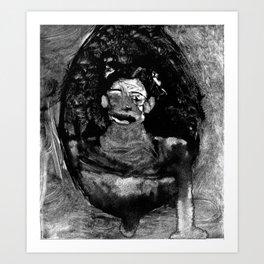 monotype Art Print