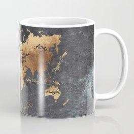 world map 147 gold black #worldmap #map Coffee Mug