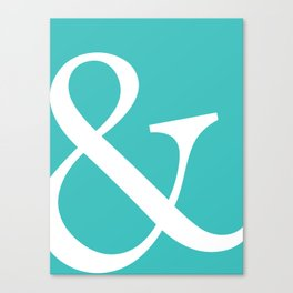 Ampersand Art Print Canvas Print