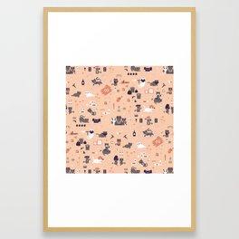 Bad cats Framed Art Print