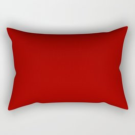 Crimson Red - solid color Rectangular Pillow