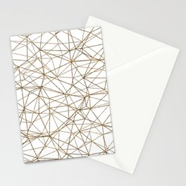 Geometric triangles glitter pattern. Modern stylish texture. Gold trendy glitter print background Stationery Cards