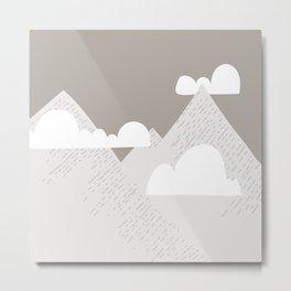 Low Cloud Mountain Scene Metal Print