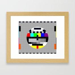 Test Pattern Framed Art Print