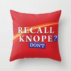 Recall Knope Throw Pillow
