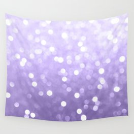 Ultra violet purple sparkly bokeh Wall Tapestry